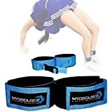 Tumble Pro X Ankle Straps – Cheerleading, Gymnastics Tumbling Trainer Aid – Defrogger Keeps Ankles Together During Stunting,