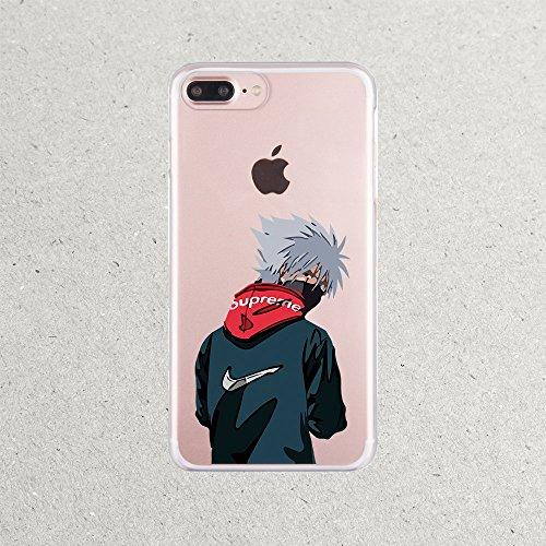 Naruto Case Shippuden Uzumaki Manga Sage Sharingan Cell i Phone Case for Apple iPhone 10 X 8 8s 8plus 7 6 6S 6plus 7plus 6splus 7plus 7s Plus 4 4S (Sharingan Apple)