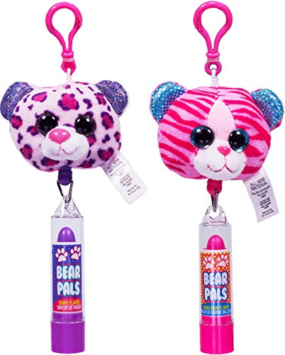 YOYO Lip Gloss Bear Pals Lip Balms (Flavored Grape Gloss Lip)