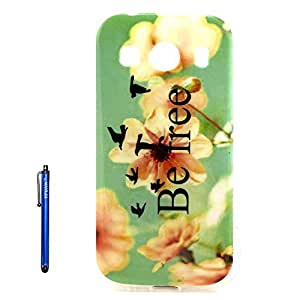 Galaxy Ace Style LTE Case,G357 TPU Case,Vfunn Premium TPU Gel Scratch Resistant Funny Cartoon Case Cover for Samsung Ace Style LTE SM-G357FZ with 1 Screen Protector 1 Stylus Pen (G357 TPU Case) (Be Free) by ruishername