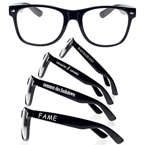 TM diseño ochentero 4sold con de ahumados cristales Negro negro Dope unisex sunglasses sol Gafas 6nWTqwxdT0