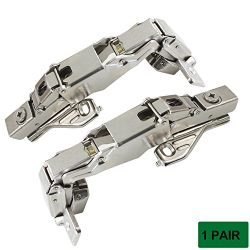 Probrico Face Frame Mount Soft Closing 165 Degree Full Overlay Cabinet Hinges,1 Pair
