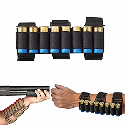 HTBMALL Gun Stock Ammo Pouch Storage Shotgun Shell Holder, Adjustable Shooters Forearm or Buttstock Sleeve Case Bag Magazine Pouch