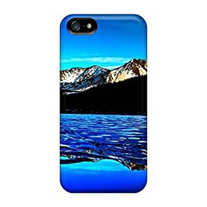 New Fashionable Luoxunmobile333 Iut15005ZwKM Covers Cases Specially Made For Samsung Galxy S4 I9500/I9502(ice Mountain Lake)