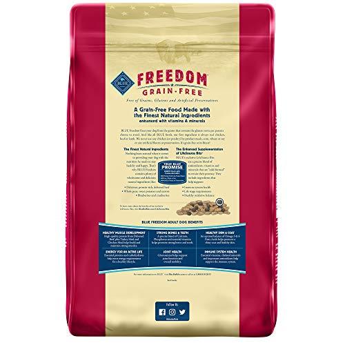 Blue Buffalo Freedom Grain Free Natural Adult Dry Dog Food, Beef
