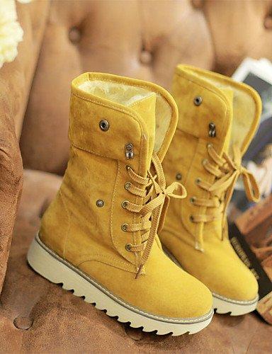 exterior 8 Xzz Uk7 10 Uk8 Nieve 5 Eu42 Eu41 Yellow Equitación 5 5 A De La Cn43 Mujer Y Botas Brown Zapatos Trabajo Seguridad us10 5 Cn42 Oficina Tacón Cuña Moda us9 rwAq6xfr