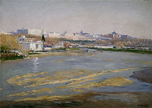Eat Your Heart Out Origin (High Quality Polyster Canvas ,the Imitations Art DecorativePrints On Canvas Of Oil Painting 'Beruete Y Moret Aureliano De The Manzanares River 1908 ', 12 X 17 Inch / 30 X 43 Cm Is Best For Study Decoration And Home Decor And Gifts)