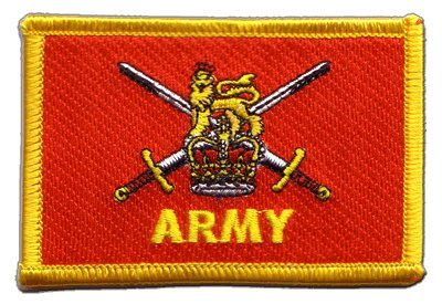 Great Britain British Army Flag embroidered Iron-On Patch
