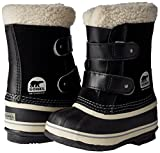 Sorel Childrens 1964 Pac Strap Snow Boot, Black