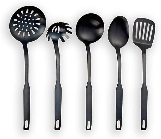 Berglander Ustensile de Cuisine en Acier Inoxydable 12 pi/èces cuill/ère de Cuisine 12 pi/èces ustensiles de Cuisine Ustensile de Cuisine
