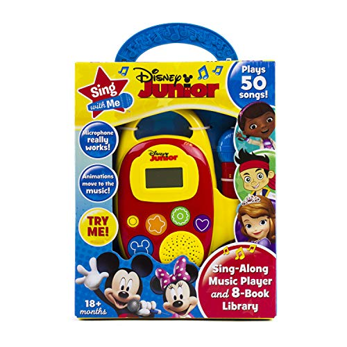 Disney Junior Mickey, Minnie, and More! - Sing with Me Sing-Along Music Player and 8-Book Library - PI Kids