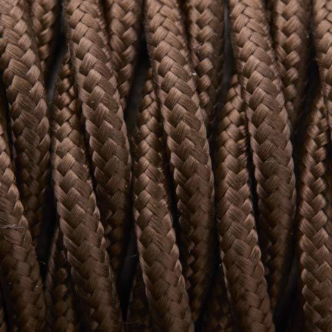 3 x 1 mm marr/ón Cable textil trenzado Belle /Époque para instalaci/ón el/éctrica vintage Klartext 3 m