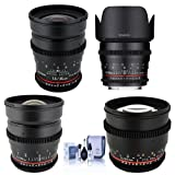 Rokinon T1.5 Cine 4 Lens Kit for Canon EF Mount - Consists of 24mm T1.5, 35mm T1.5, 50mm T1.5 DS Lens, 85mm T1.5 lenses