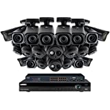 Lorex 32 channel NR9326 4K Security System 4KHDIP3222NV- 10 4K LNE8950BW Audio Turret Cameras, 12 4K LNB8973B Motorized Bullet Cameras