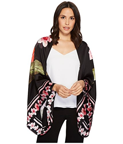 Ted Baker London Women's Peach Blossom Cape, Black, One Size by Ted Baker