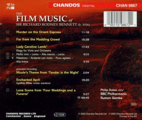 Film Music of Richard Rodney Bennett by Chandos