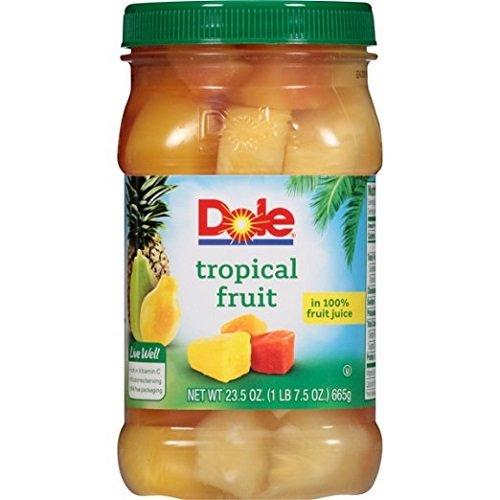 Dole 100% Juice, Tropical Fruit, 23.5 oz ( 2 pack )