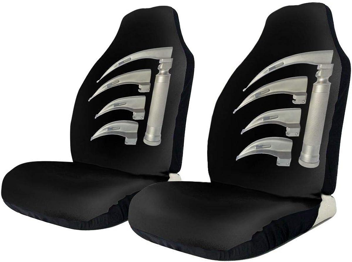 Little Yi Laringoscopio Impresión universal Funda de asiento de coche Fundas de asiento delantero negro para automóviles