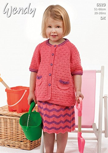d9d6e77f36ceab Wendy Girls Cardigan   Skirt Supreme Knitting Pattern 6029 DK   Amazon.co.uk  Kitchen   Home