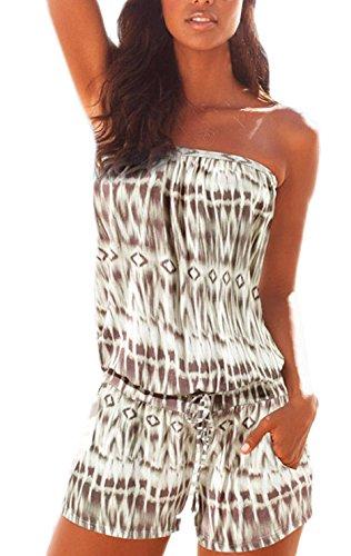 Damen Mode Jumpsuits Overall Playsuits Strapless ärmellos ...