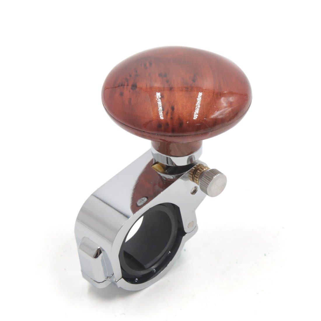 sourcingmap Mahogany Tone Car Steering Wheel Spinner Knob Auxiliary Booster Ball a17061900ux1732
