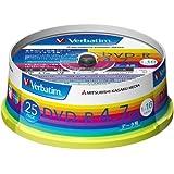 三菱ケミカルメディア Verbatim 1回記録用 DVD-R DHR47JP25V1 (片面1層/1-16倍速/25枚)