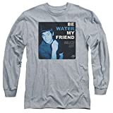 2Bhip Bruce Lee Martial Arts Karate Kung-Fu Be Water My Friend Adult L-Sleeve