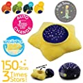 Le Petit Prince Moving Twinkle Stars Night Light Projection Sound Machine by Lumitusi