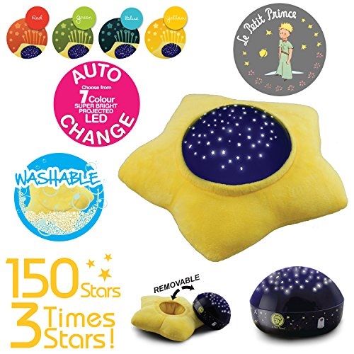 Le Petit Prince Washable Soft Star Plush Projector Night Lig