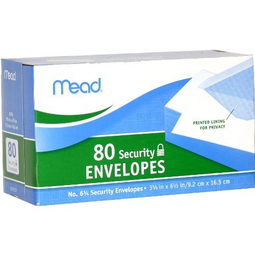 Mead 75212 80CT White Envelope