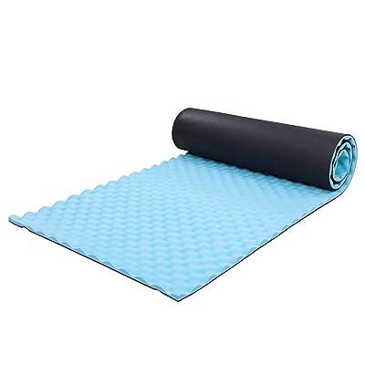 Runacc anti-humidité Tapis de camping Coussin en mousse EVA enroulable léger Sleeping Pad, convient pour randonnée, camping, randonnée, yoga et bien plus encore, 180,1x 50x 1,5cm,