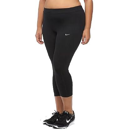 d4b6c831a58 Amazon.com   Nike Plus Size Dri-FIT Essential Crop Running Tights ...