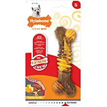 Nylabone Flavor Frenzy Regular Dura Chew Cheesesteak Flavored Bone Dog Chew Toy