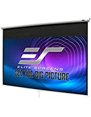Elite Screens Manual B, 100-INCH 16:9, Manual Pull Down Projector Screen 4K / 8K Ultra HDR 3D Ready with Slow Retract Mechanism, 2-YEAR WARRANTY, M100H