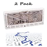 2 Packs LLOP Money Gift Maze Bank Brainteaser Cosmic Pinball Cube Money Puzzle Box for Kids and Adults, Brain Teasers and Fun Game Challenge as Birthday Christmas Gifts for Coin Bills Cash