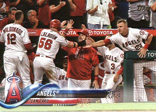 2018 Topps #119 Los Angeles Angels Baseball Card (Baseball Set Deck Upper)
