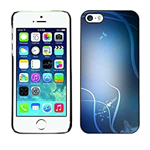 Soft Silicone Rubber Case Hard Cover Protective Accessory Compatible with Apple iPhone? 5 & 5S - white lines birds abstract clean