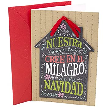 Amazon christmas cards in spanish pack of 32 office products hallmark vida spanish christmas greeting card for family house plaque m4hsunfo
