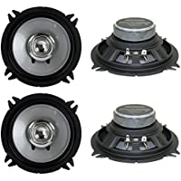 4) New Kenwood KFC-C1355S 5.25 500 Watt 2-Way Car Audio Coaxial Speakers Stereo