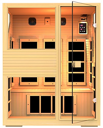 JNH Lifestyles NE3HB1 ENSI Collection 3 Person NO EMF Infrared Sauna Limited Lifetime Warranty