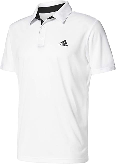 adidas Approach Polo de Tenis, Hombre, Blanco/Negro, S: Amazon.es ...