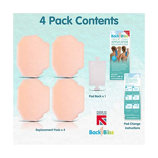 Replacement Refill Pads 8X for Back Lotion Cream Applicator Easy Reach Self Tan - Pack of 8 Pads