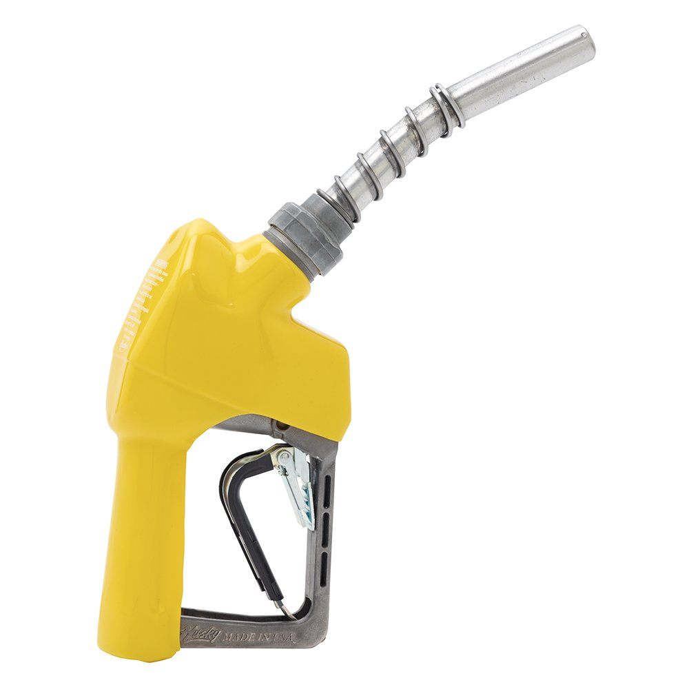 Husky 159504-05 New XS Pressure Activated Unleaded Nozzle with Three Notch Hold Open Clip and Full Grip Guard