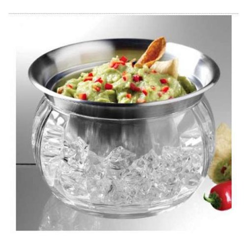 Prodyne Bowl And Dip Cup On Ice 22 Oz Stainless Steel ()