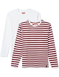 """<span class=""""a-offscreen"""">[Sponsored]</span>Men's 2-Pack Jersey Crew Neck Long Sleeve T-Shirt"""