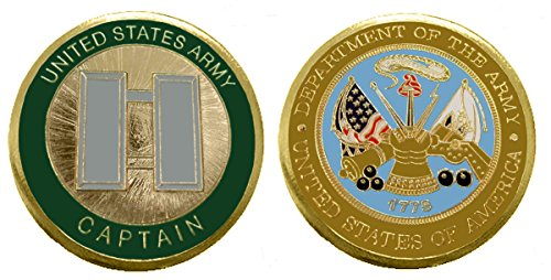 "Army Officer Ranks - Captain ""O -3"" Collectible Challenge Coin /Logo Poker / Lucky Chip/ Gift"