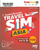 Travel Sim Asia 4 GB Non-stop internet in 14 Countries Japan, Korea, Taiwan, HK, China...