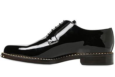 3df21df8d53cac FootGift Chaussure homme classique brillante noire en cuir avec lacets EU39