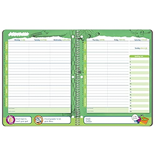 Undated Student Planner For Elementary Kids  Assignment Agenda