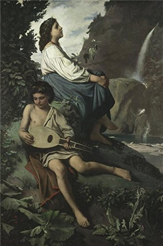 [Perfect Effect Canvas ,the High Resolution Art Decorative Canvas Prints Of Oil Painting 'Anselm Feuerbach - Ricordo Di Tivoli,1866-1867', 10x15 Inch / 25x38 Cm Is Best For Bar Gallery Art And Home Decor And] (Buffalo Bob Costume)